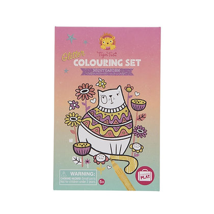 Glitter Colouring Set Night Garden