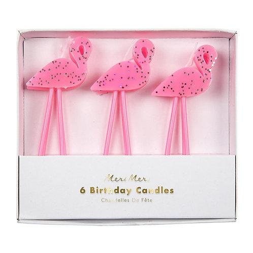 Candles Flamingo S/6