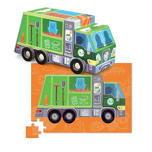48-Pc Vehicle Puzzles Dump Truck