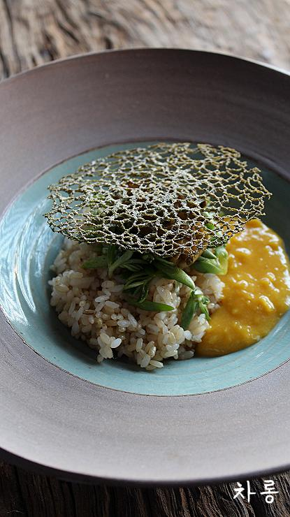 전복게우젓 비빔밥과 꿀계란
