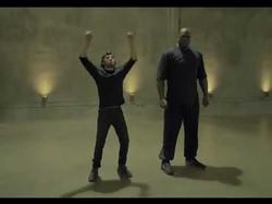 Shaq and Adam Dance