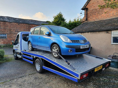 Scrap Vehicle Collection | Wirral | Nissan Note Scrap Car | CR&R 24hr