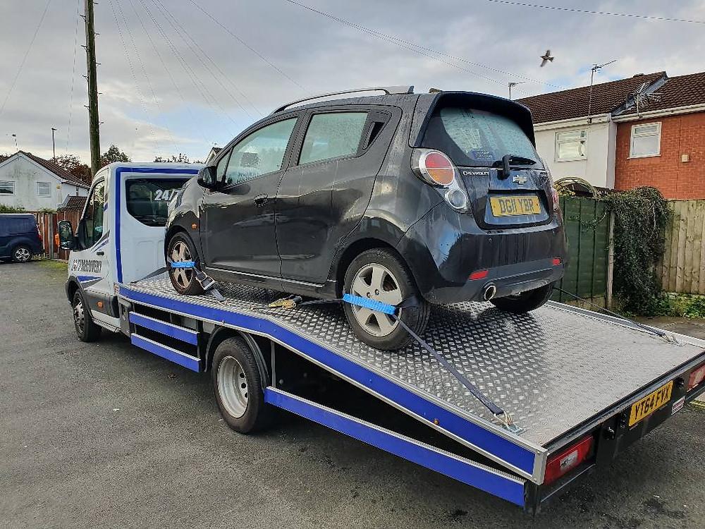 Chevrolet Spark Transported To Main Dealer Wigan