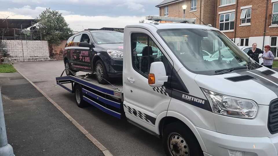 Vauxhall Astra On the Recovery Vehicle