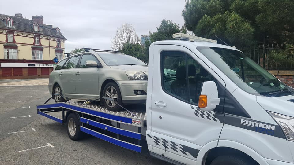 Toyota on Recovery Vehicle