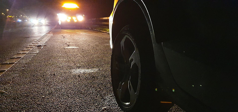 Spare Wheel Change M62 Motorway Recovery