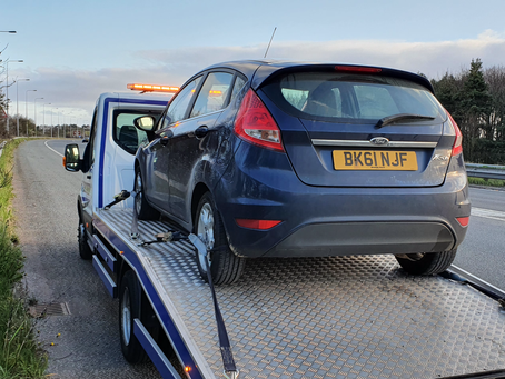 Car Breakdown Recovery | M53 Motorway to Wirral | Ford Fiesta Electric Issues | CR&R 24hr