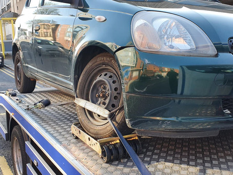Car Breakdown Recovery | Liverpool Town to Old Swan | Toyota Yaris Suspension Issues | CR&R 24hr