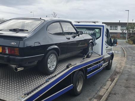 Classic Car Transport | Huyton to Widnes | Ford Capri | CR&R 24hr