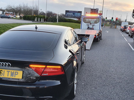 Car Breakdown Recovery | Liverpool East Lancs to Manchester | Audi A7 DPF Issues  | CR&R 24hr