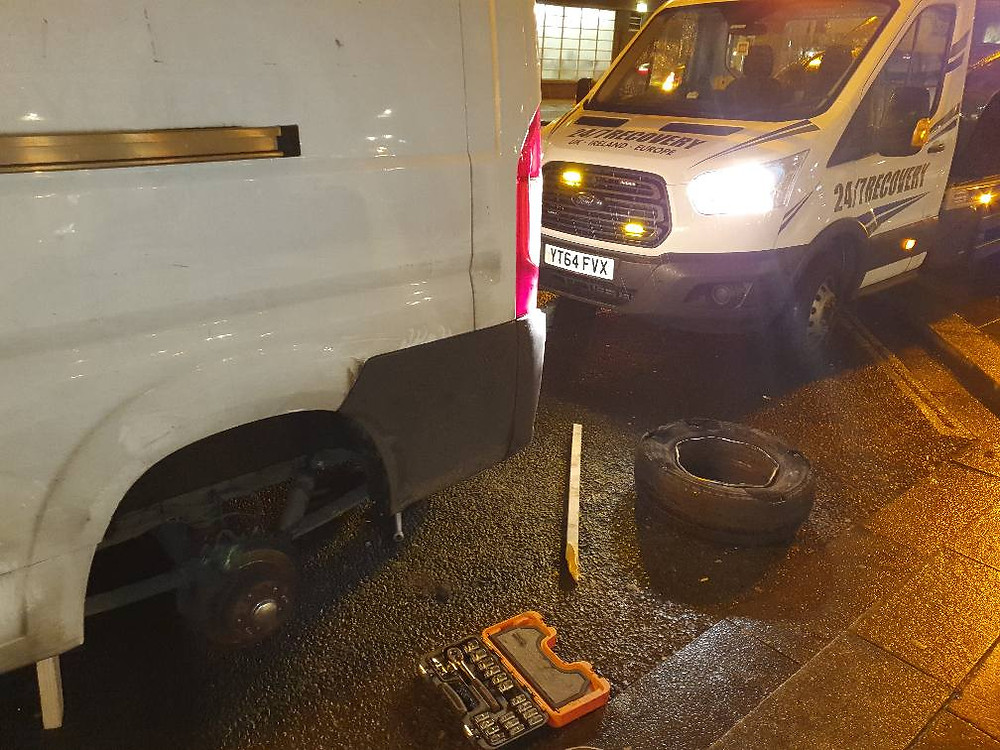 Peugeot van supply and fit spare wheel