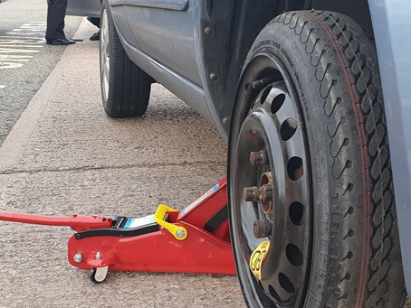 Vehicle Spare Wheel Change | Kirkby Liverpool | Nissan Micra | CR&R 24hr