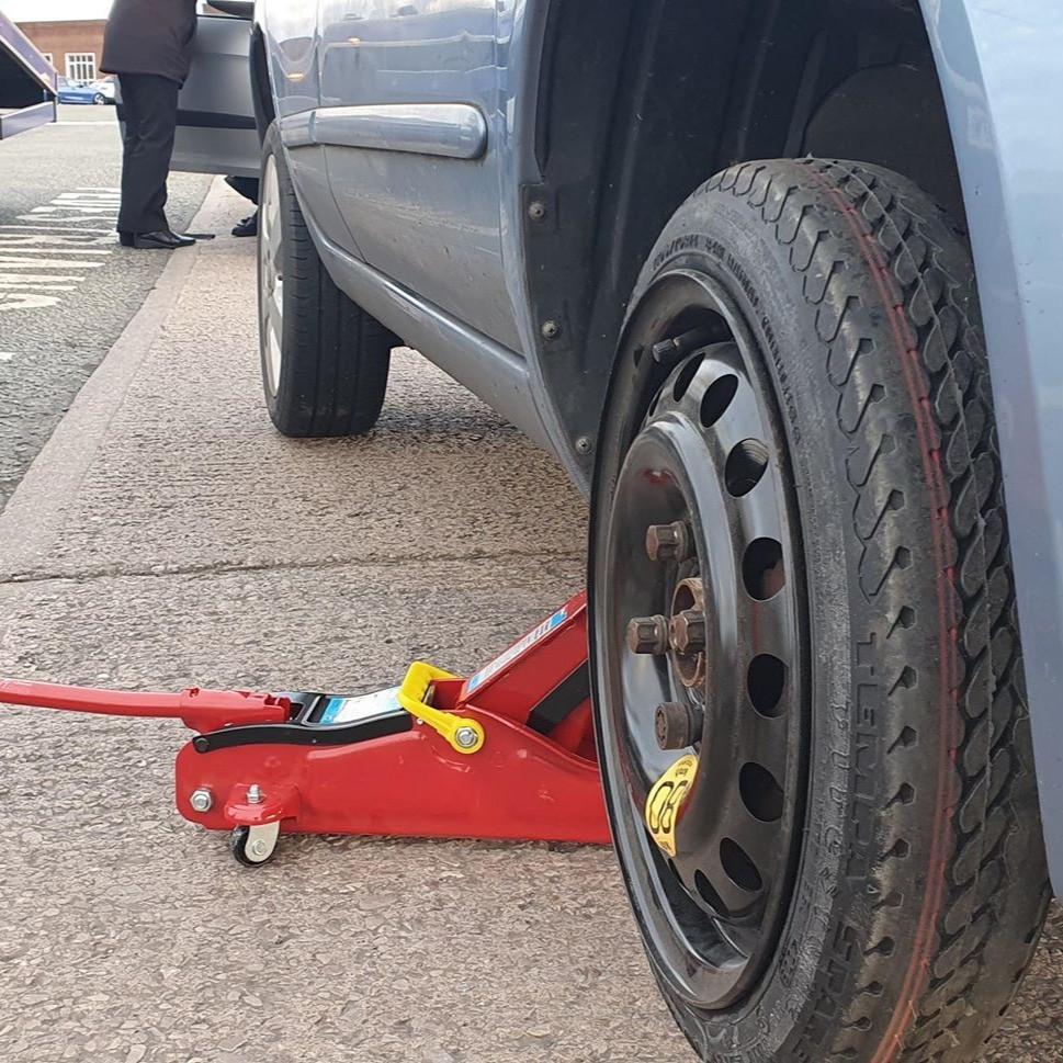 Nissan Micra spare wheel changed in Kirkby