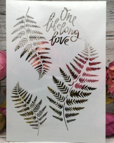 Ferns and Saying  -Stencil