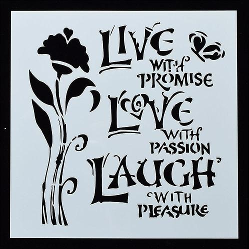 Live, Love, Laugh  -Stencil