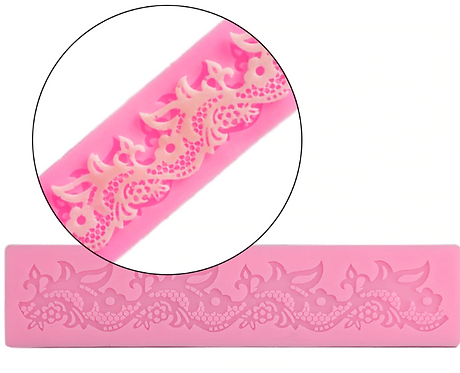 Floral Lace ~ Silicone Mold