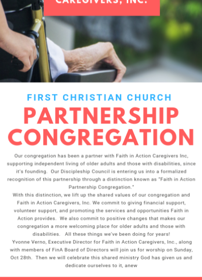 Faith in Action Caregivers Inc. is a trusted partner