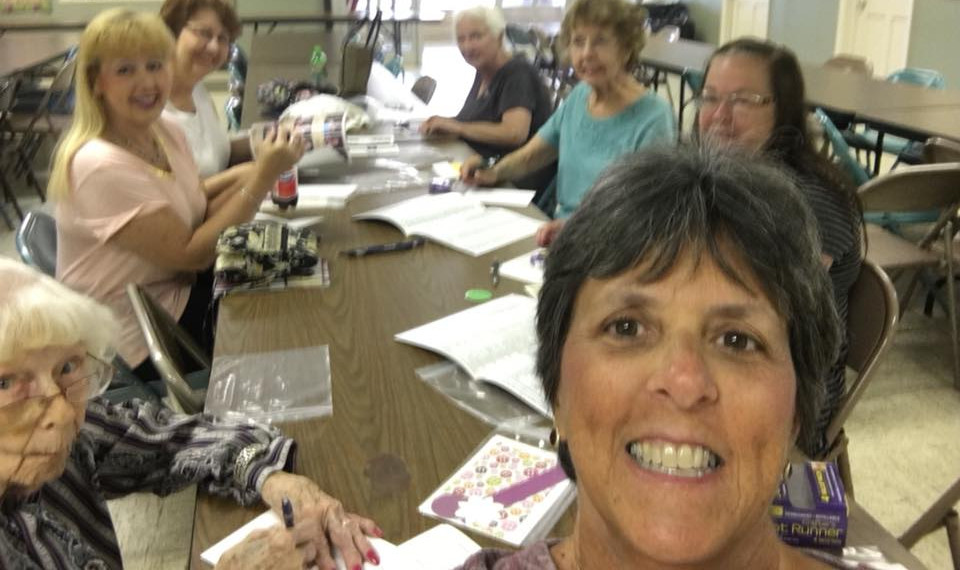 Another Sunday Service group makes cards for shut ins