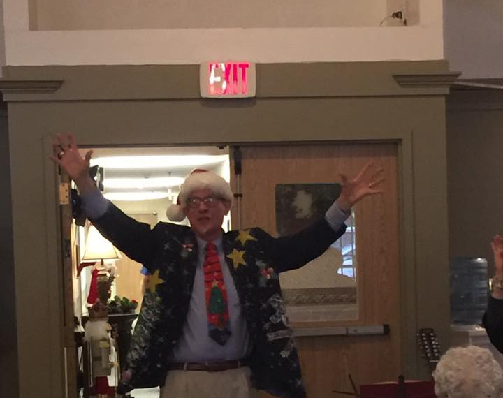 Rev. Bob leads singing at the nursing homes