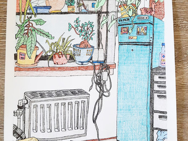 Elisah Samallo and the  turquoise refirigerator :-D