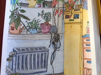 Eline's yellow refrigerator :-)
