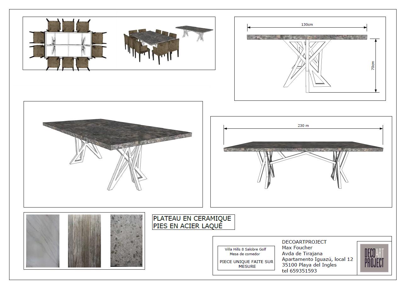 diseño mesa 3D