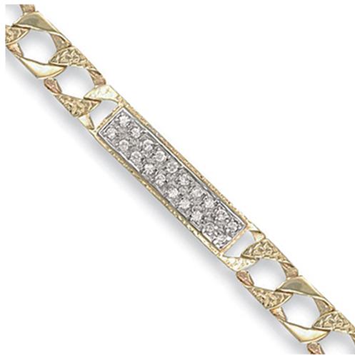 Gold cast curb ID baby bracelet