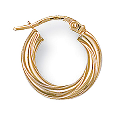 Gold twisted xs hoops