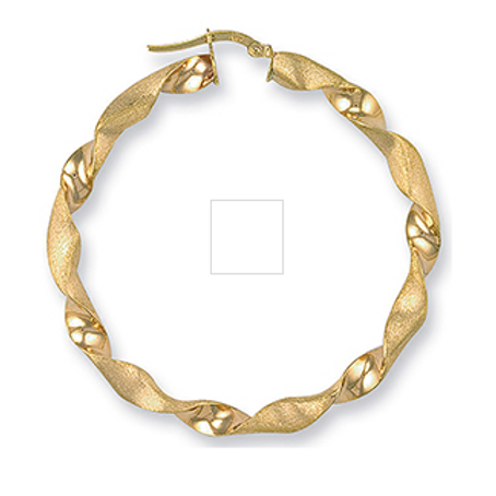 Gold xl frosted twist hoops