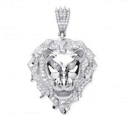 Silver Lion Head