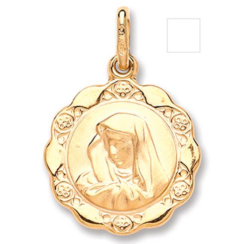 Gold Madonna Pendant