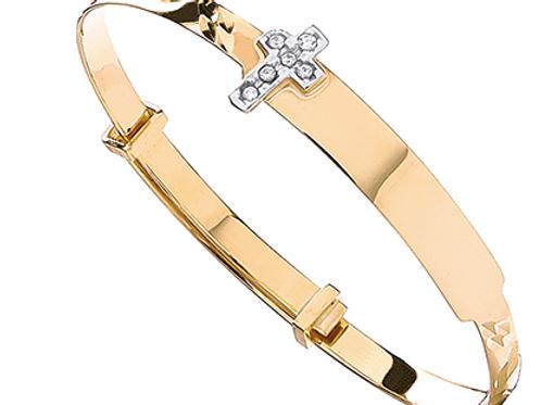 Gold cross bangle