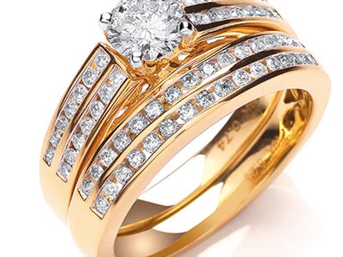 Gold duo bridal set