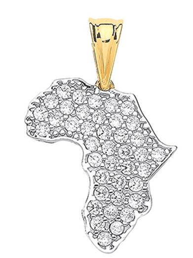 Africa Gold Pendant