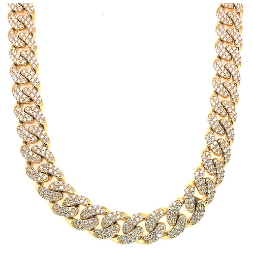 Gold & Diamond cuban chain