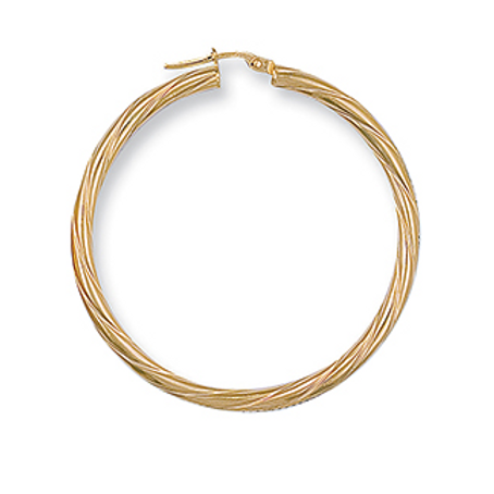 Gold twisted xl hoops