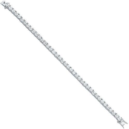 Silver Princess Cut Cz Tennis Bracelet