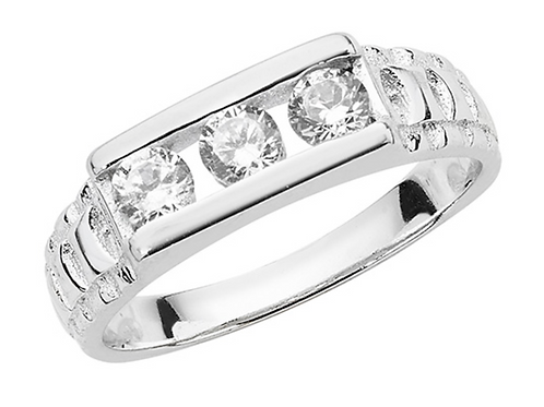 SILVER BABIES' CZ RING