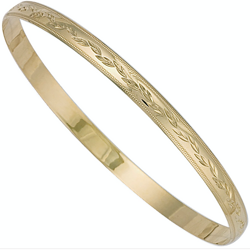 Y/G 5mm D/C D - Shaped Slave Bangle
