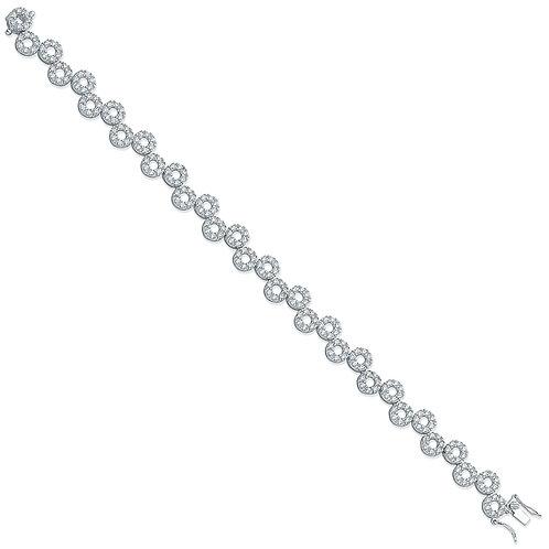 Sliver Fancy Loop Cz Bracelet