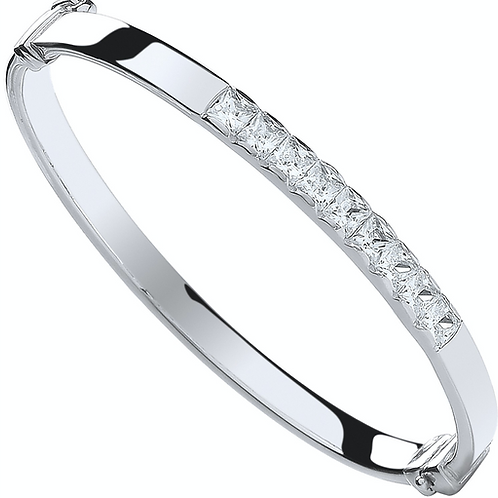 Silver Baby Chanel Set Cz Bangle