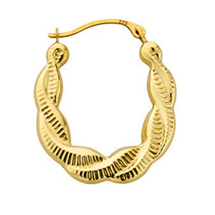 Gold twist creoles hoops