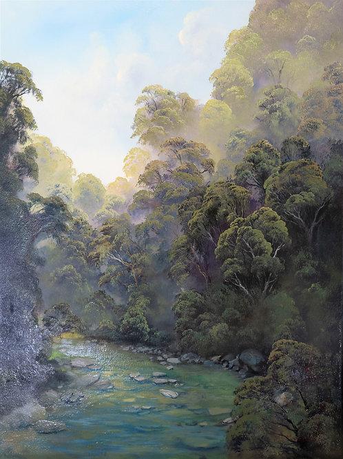 Torrent River - Original Oil Painting