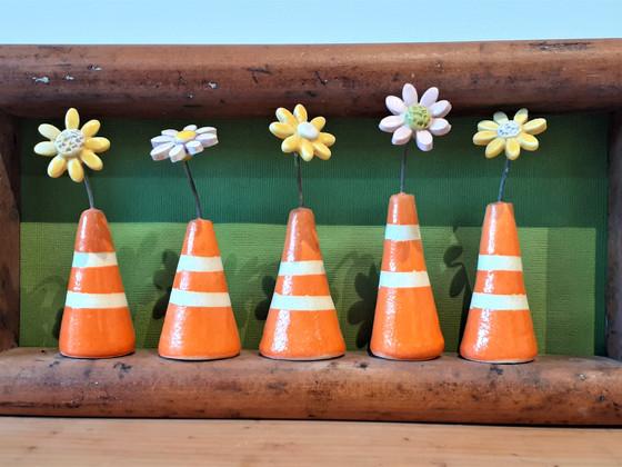 Five Framed Orange Road Cones CF.jpg