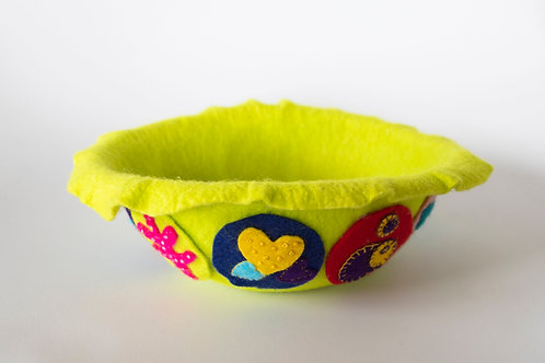 Felt Penny Bowl - Green Small