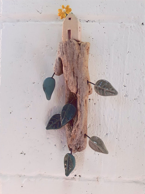 Rooted (small) -Original Ceramic and Wood