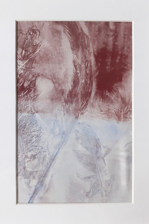 Frosted Feathers - Original Monoprint