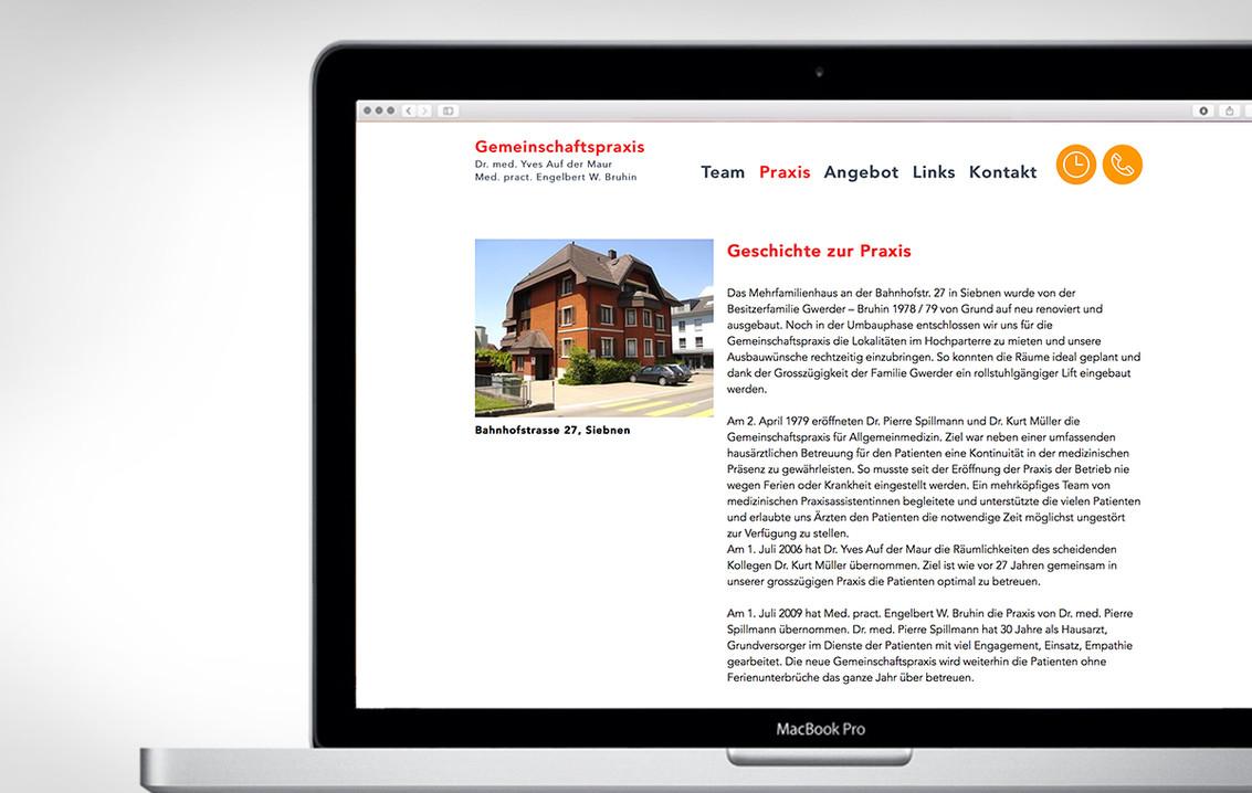 Webdesign Praxis Siebnen