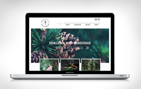 Wood Effect Webdesign