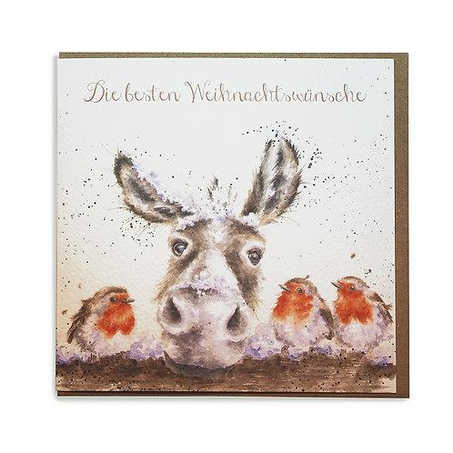 """Weihnachtskarte """"The Christmas Donkey"""""""